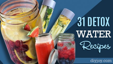 31 DIY DETOX Water Recipes – Drinks To Start Off 2016 Right! | DIY Joy Projects and Crafts Ideas
