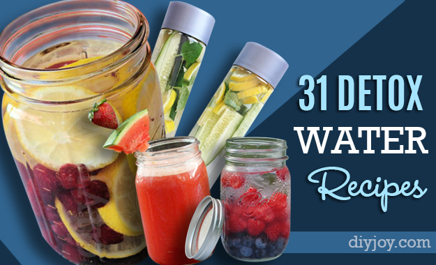 31 Detox Water Recipes - DIY Joy
