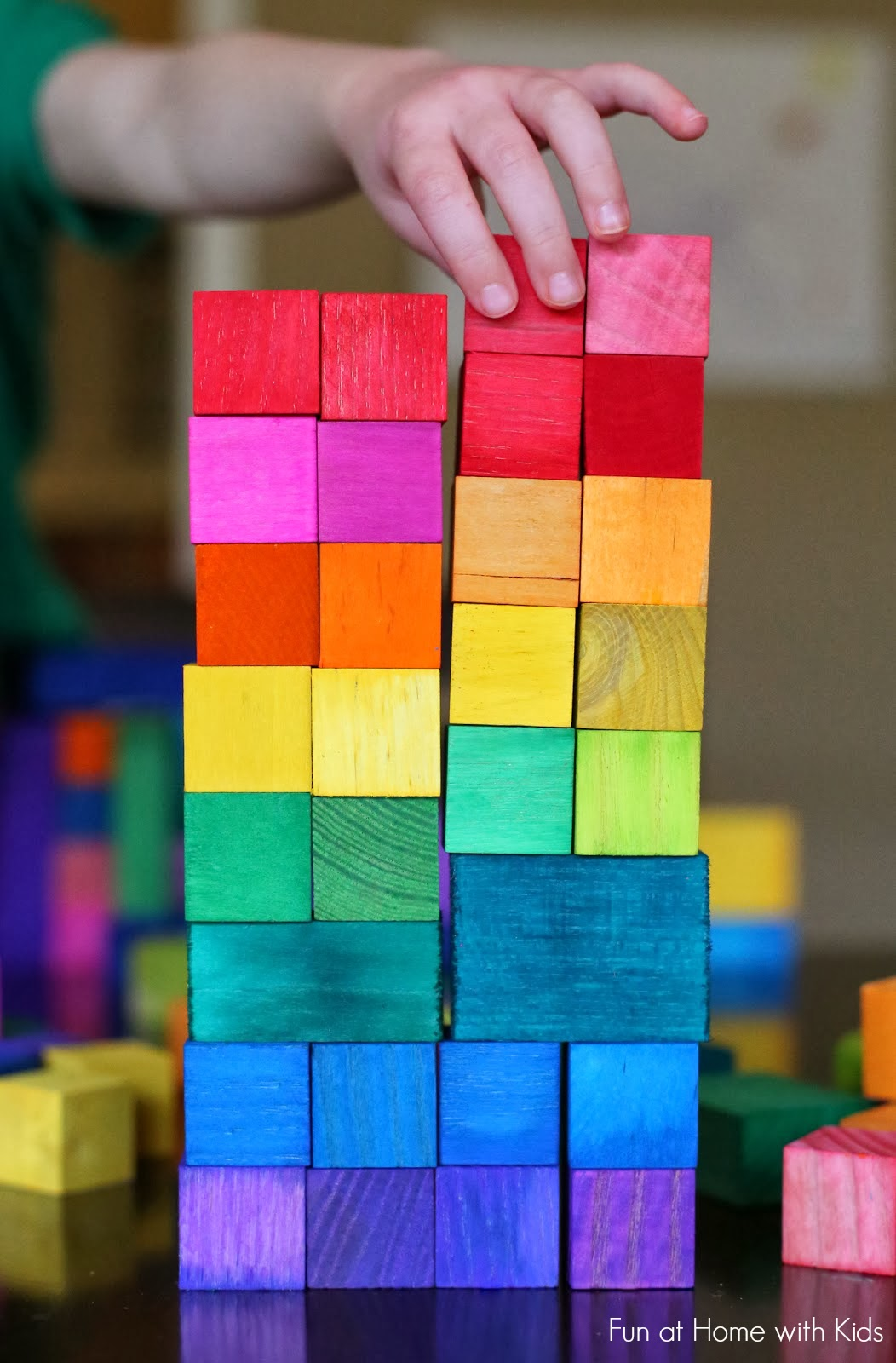 DIY Christmas Gifts for Kids - Homemade Christmas Presents for Children and Christmas Crafts for Kids   Toys, Dress Up Clothes, Dolls and Fun Games   Step by Step tutorials and instructions for cool gifts to make for boys and girls   DIY Dyed Rainbow Grimm Style Wooden Blocks