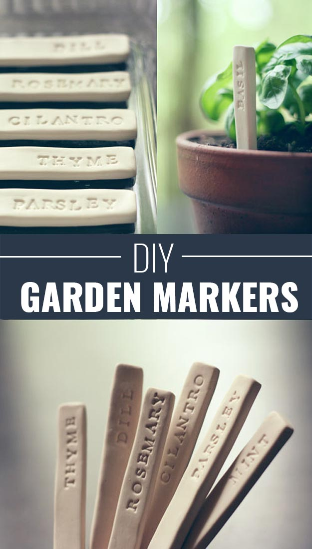 Fun Homemade Gifts for Friends | Cute DIY Stocking Stuffers for Christmas | Easy DIY Crafts Ideas | DIY Garden Markers #diy #diychristmas