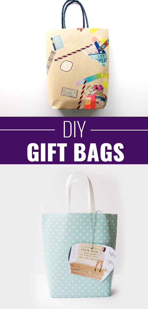 DIY Gift Wrapping Ideas - How To Wrap A Present - Tutorials, Cool Ideas and Instructions | Cute Gift Wrap Ideas for Christmas, Birthdays and Holidays | Tips for Bows and Creative Wrapping Papers | DIY-Gift-Bags #gifts #diys