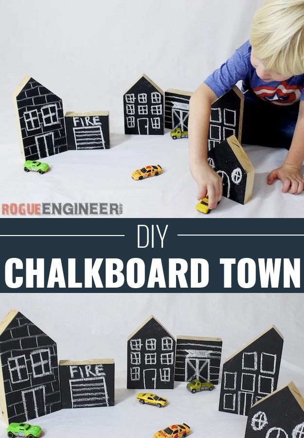 DIY Christmas Gifts for Kids - Homemade Christmas Presents for Children and Christmas Crafts for Kids   Toys, Dress Up Clothes, Dolls and Fun Games   Step by Step tutorials and instructions for cool gifts to make for boys and girls   DIY Kids Chalkboard Town