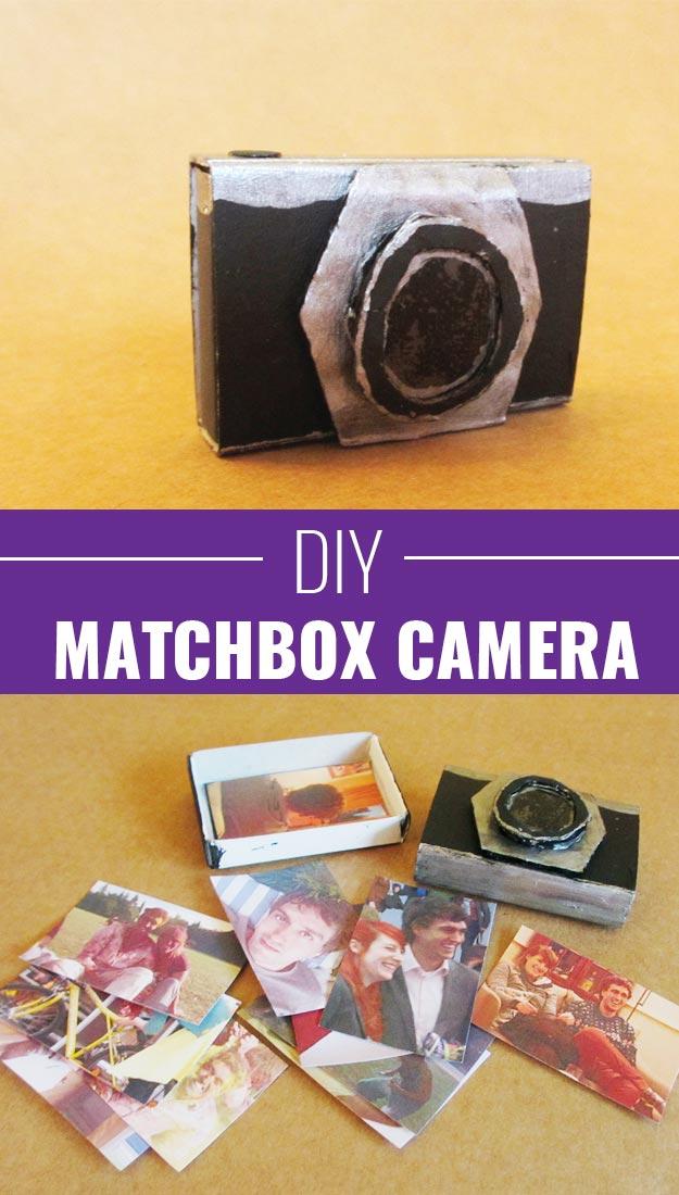 Fun Homemade Gifts for Friends | Cute DIY Stocking Stuffers for Christmas | Easy DIY Crafts Ideas | DIY Matchbox Camera #diy #diychristmas