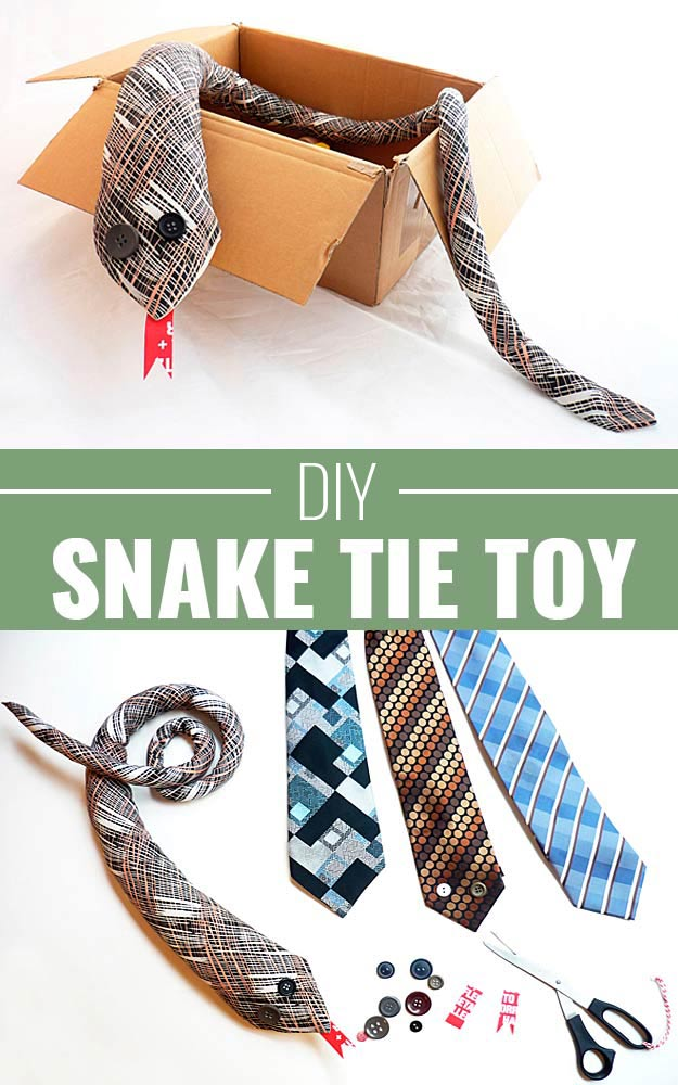 DIY Christmas Gifts for Kids - Homemade Christmas Presents for Children and Christmas Crafts for Kids | Toys, Dress Up Clothes, Dolls and Fun Games | Step by Step tutorials and instructions for cool gifts to make for boys and girls | DIY-Snake-Tie-Mr-Wiggles