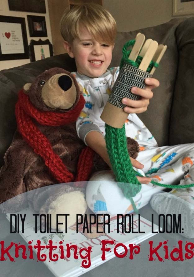 DIY Christmas Gifts for Kids - Homemade Christmas Presents for Children and Christmas Crafts for Kids | Toys, Dress Up Clothes, Dolls and Fun Games | Step by Step tutorials and instructions for cool gifts to make for boys and girls | DIY Toilet Paper Roll Loom