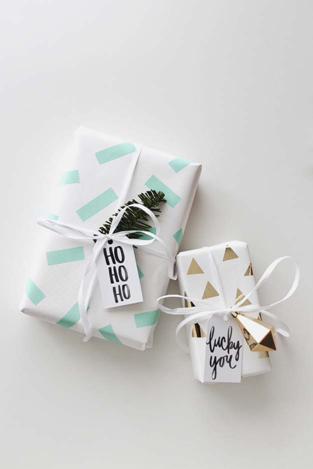 DIY Gift Wrapping Ideas - How To Wrap A Present - Tutorials, Cool Ideas and Instructions | Cute Gift Wrap Ideas for Christmas, Birthdays and Holidays | Tips for Bows and Creative Wrapping Papers | DIY Washi Tape Gift Wrapping #gifts #diys