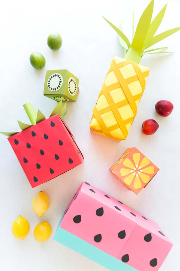 DIY Gift Wrapping Ideas - How To Wrap A Present - Tutorials, Cool Ideas and Instructions | Cute Gift Wrap Ideas for Christmas, Birthdays and Holidays | Tips for Bows and Creative Wrapping Papers | Fruit Wrapping Paper #gifts #diys