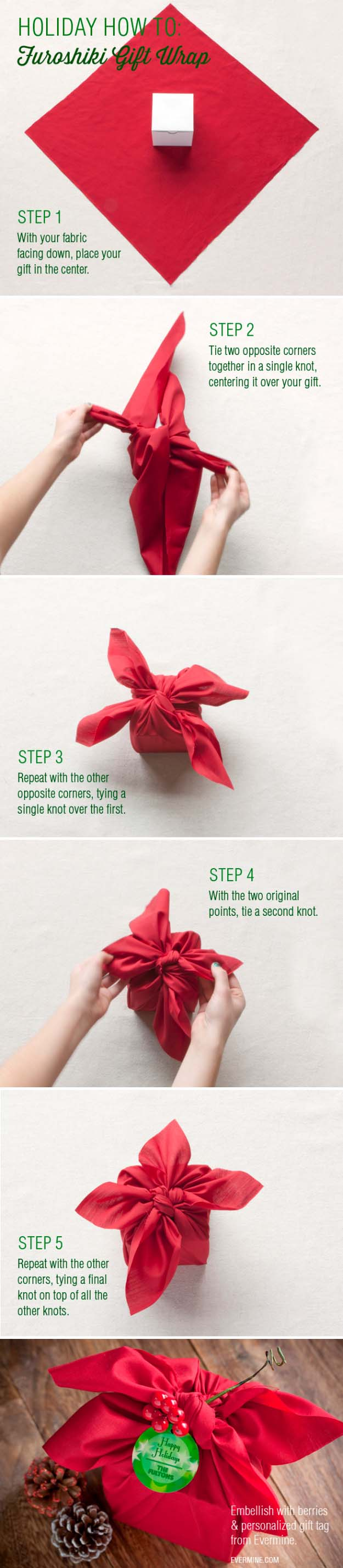 DIY Gift Wrapping Ideas - How To Wrap A Present - Tutorials, Cool Ideas and Instructions | Cute Gift Wrap Ideas for Christmas, Birthdays and Holidays | Tips for Bows and Creative Wrapping Papers | Furoshiki Gift Wrap #gifts #diys