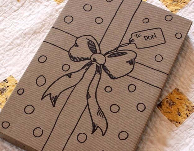 DIY Gift Wrapping Ideas - How To Wrap A Present - Tutorials, Cool Ideas and Instructions | Cute Gift Wrap Ideas for Christmas, Birthdays and Holidays | Tips for Bows and Creative Wrapping Papers | Hand Drawn Gift Wrap Ribbon #gifts #diys