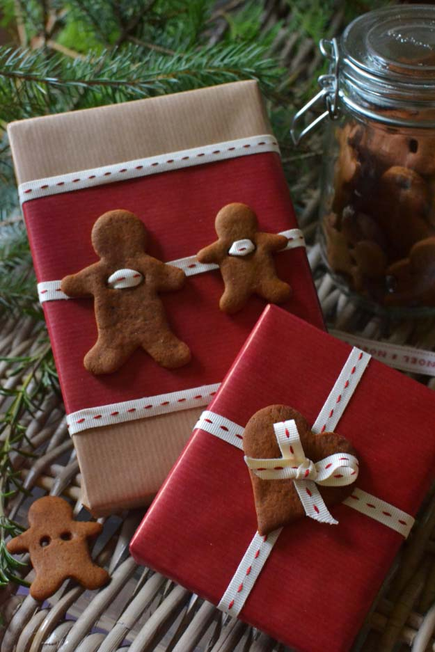 DIY Gift Wrapping Ideas - How To Wrap A Present - Tutorials, Cool Ideas and Instructions | Cute Gift Wrap Ideas for Christmas, Birthdays and Holidays | Tips for Bows and Creative Wrapping Papers | Home Made Ginger Bread Gift Tags #gifts #diys