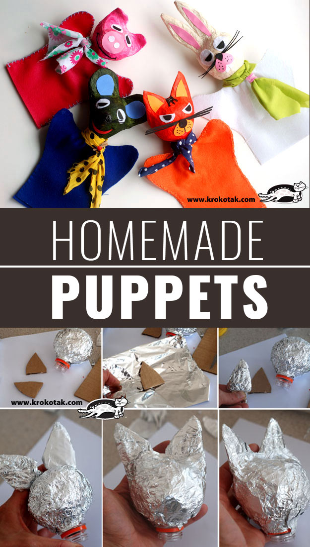 DIY Christmas Gifts for Kids - Homemade Christmas Presents for Children and Christmas Crafts for Kids   Toys, Dress Up Clothes, Dolls and Fun Games   Step by Step tutorials and instructions for cool gifts to make for boys and girls   Homemade-Puppets