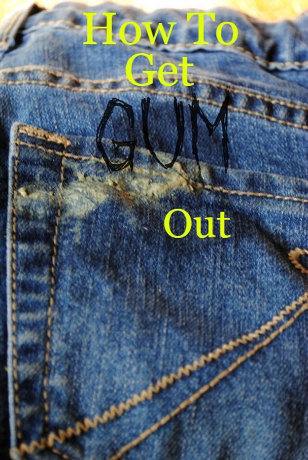 DIY Hacks for Ruined Clothes. Awesome Ideas, Tips and Tricks for Repairing Clothes and Removing Stains in Clothing   How To Get Gum Out With Vinegar