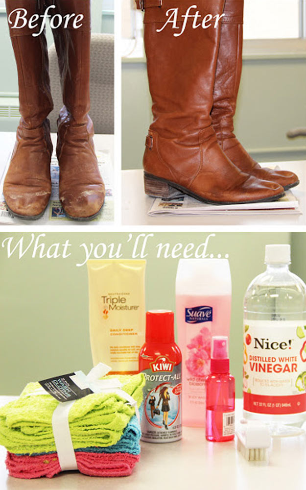 DIY Hacks for Ruined Clothes. Awesome Ideas, Tips and Tricks for Repairing Clothes and Removing Stains in Clothing   How to Remove Salt Stains from Leather Boots