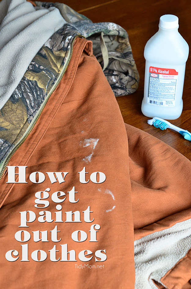 DIY Hacks for Ruined Clothes. Awesome Ideas, Tips and Tricks for Repairing Clothes and Removing Stains in Clothing   How to Get Paint out of Clothes