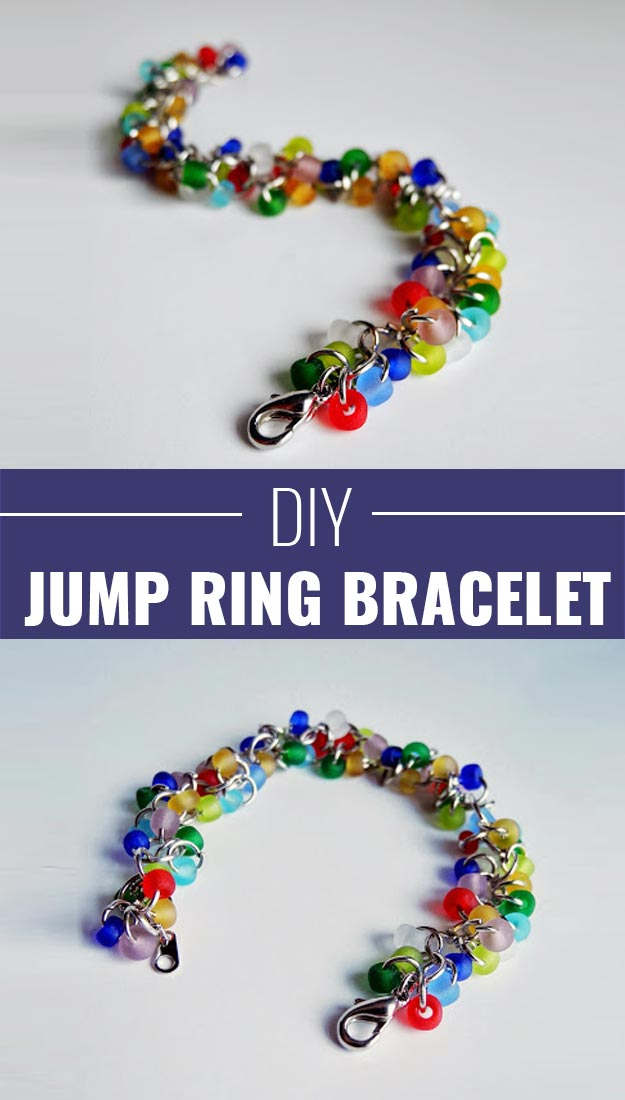 Fun Homemade Gifts for Friends | Cute DIY Stocking Stuffers for Christmas | Easy DIY Crafts Ideas | Jump Ring Bracelet #diy #diychristmas