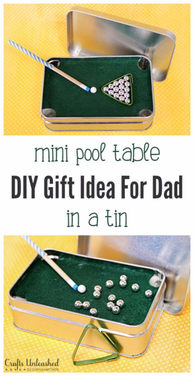 Fun Homemade Gifts for Friends | Cute DIY Stocking Stuffers for Christmas | Easy DIY Crafts Ideas | Mini Pool Table in a Tin #diy #diychristmas