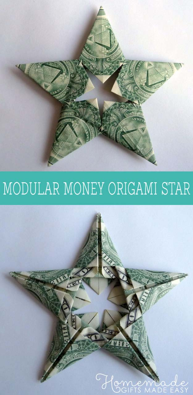 Best DIY Stocking Stuffer Ideas Ever - Cash! | Fun DIY Christmas Present Idea for Men, Women, Kids and Teens | How To Make Modular Money Origami Star