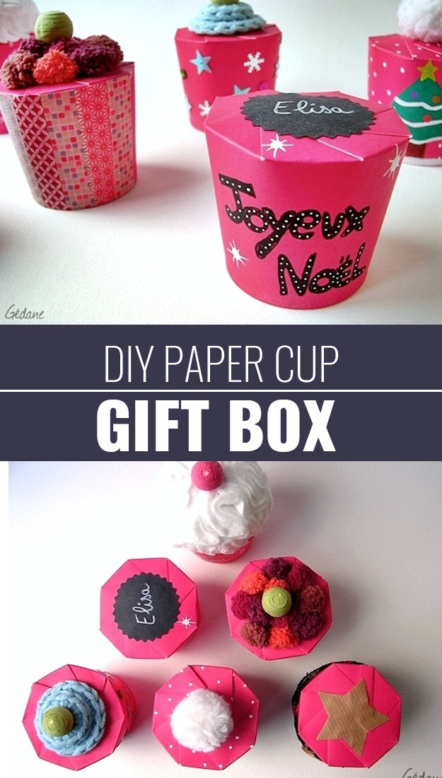 Paper cup gift box http diyjoy com how to wrap a gift wrapping