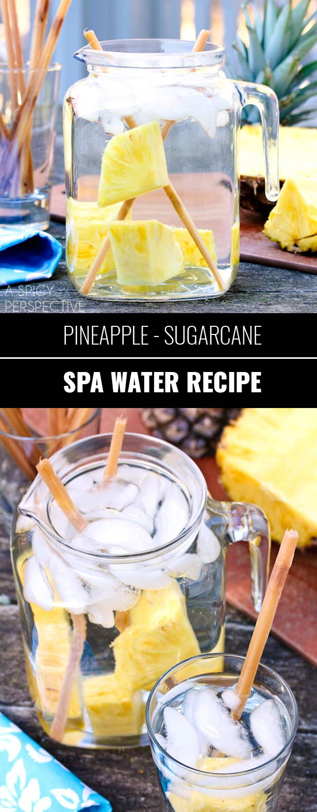 31 Detox Water Recipes for Drinks To Cleanse Skin and Body. Easy to Make Waters and Tea Promote Health, Diet and Support Weight loss | Pineapple Sugarcane Detox Water - Drink Recipe #detox #recipes #detoxwater #healthy