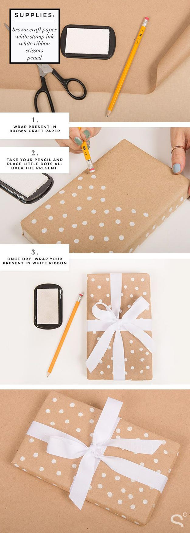 DIY Gift Wrapping Ideas - How To Wrap A Present - Tutorials, Cool Ideas and Instructions | Cute Gift Wrap Ideas for Christmas, Birthdays and Holidays | Tips for Bows and Creative Wrapping Papers | Polka-Dot-Gift-Wrap #gifts #diys