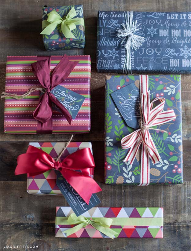 DIY Gift Wrapping Ideas - How To Wrap A Present - Tutorials, Cool Ideas and Instructions | Cute Gift Wrap Ideas for Christmas, Birthdays and Holidays | Tips for Bows and Creative Wrapping Papers | Printable Holiday Gift Wrap #gifts #diys