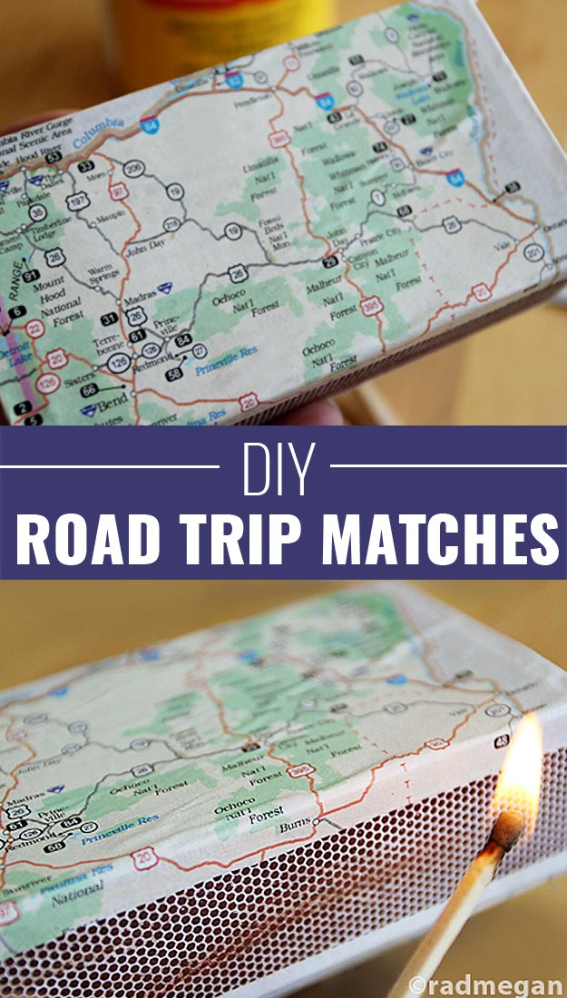 Fun Homemade Gifts for Friends | Cute DIY Stocking Stuffers for Christmas | Easy DIY Crafts Ideas | Road Trip Matches #diy #diychristmas