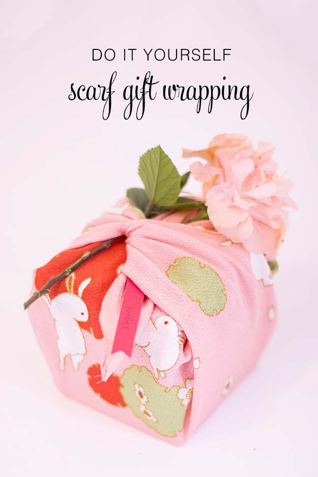 DIY Gift Wrapping Ideas - How To Wrap A Present - Tutorials, Cool Ideas and Instructions | Cute Gift Wrap Ideas for Christmas, Birthdays and Holidays | Tips for Bows and Creative Wrapping Papers | Scarf Gift Wrapping #gifts #diys