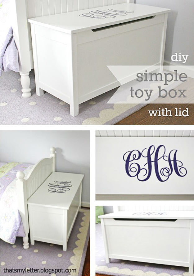 Modern Toy Box Living Room: 41 Fun DIY Gifts To Make For Kids (Perfect Homemade