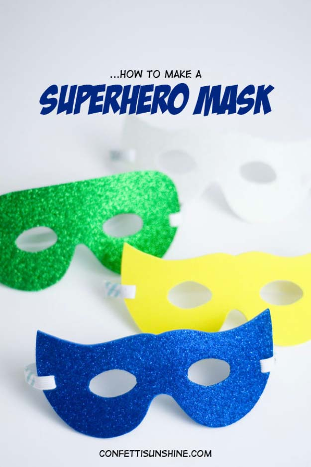DIY Christmas Gifts for Kids - Homemade Christmas Presents for Children and Christmas Crafts for Kids   Toys, Dress Up Clothes, Dolls and Fun Games   Step by Step tutorials and instructions for cool gifts to make for boys and girls   Super Hero Mask