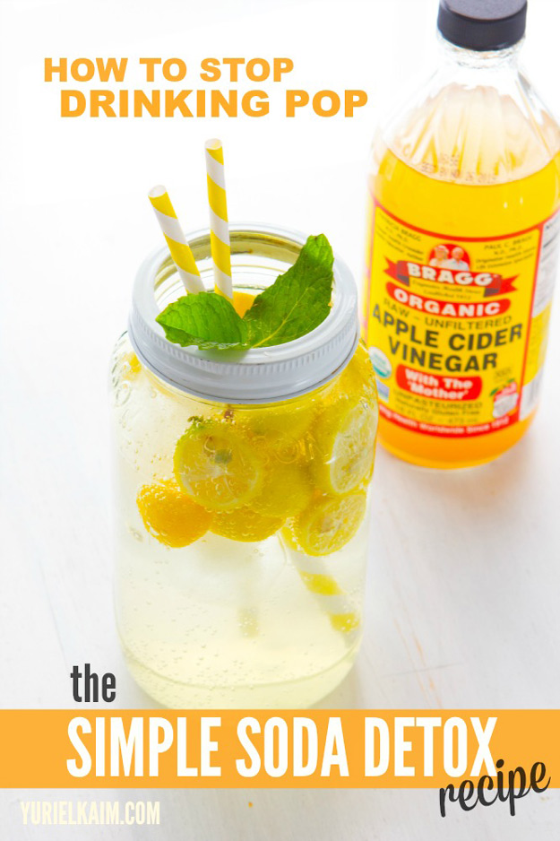 31 Detox Water Recipes for Drinks To Cleanse Skin and Body. Easy to Make Waters and Tea Promote Health, Diet and Support Weight loss | The Apple Cider Soda Detox Water Recipe - Drink Recipe #detox #recipes #detoxwater #healthy