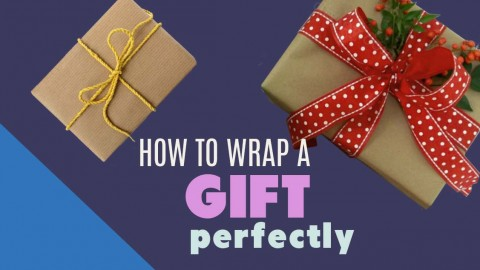 How To Wrap A Gift – Easy To Follow Step-by-Step Tutorial | DIY Joy Projects and Crafts Ideas