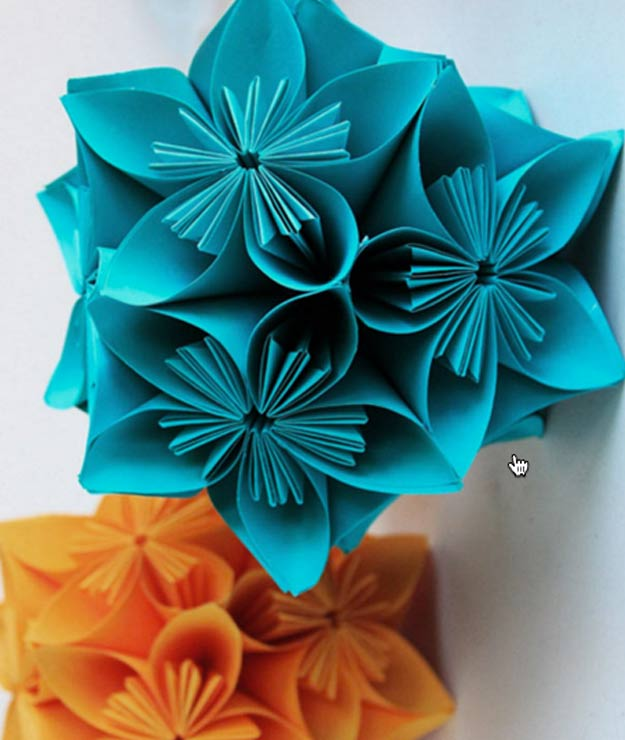 DIY Stocking Stuffers - Paper Flower Ball