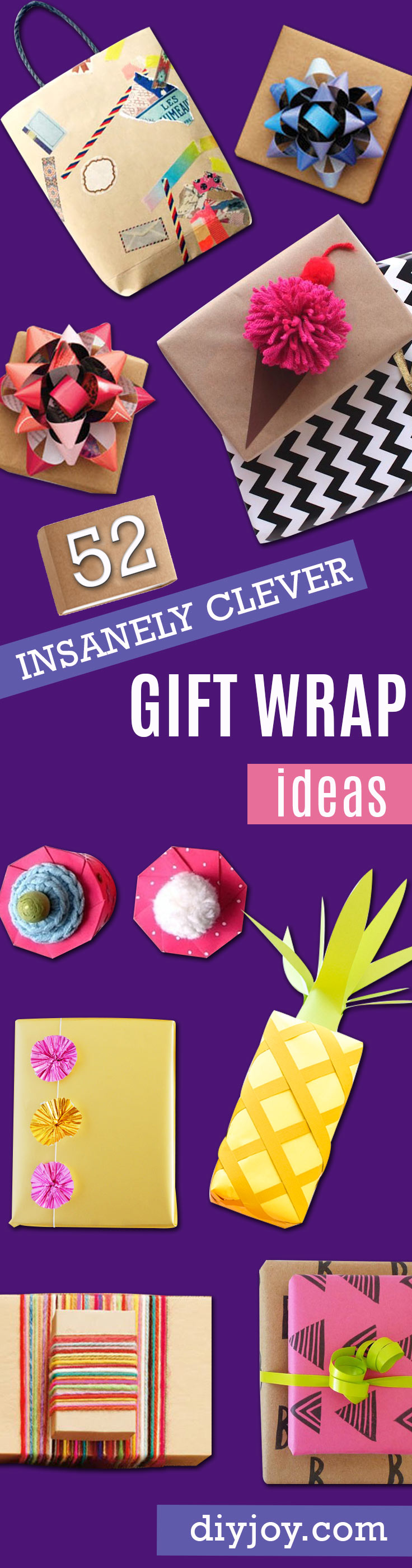 gift wrapping tutorial ideas - how to wrap a present = diy gift wrap idea christmas