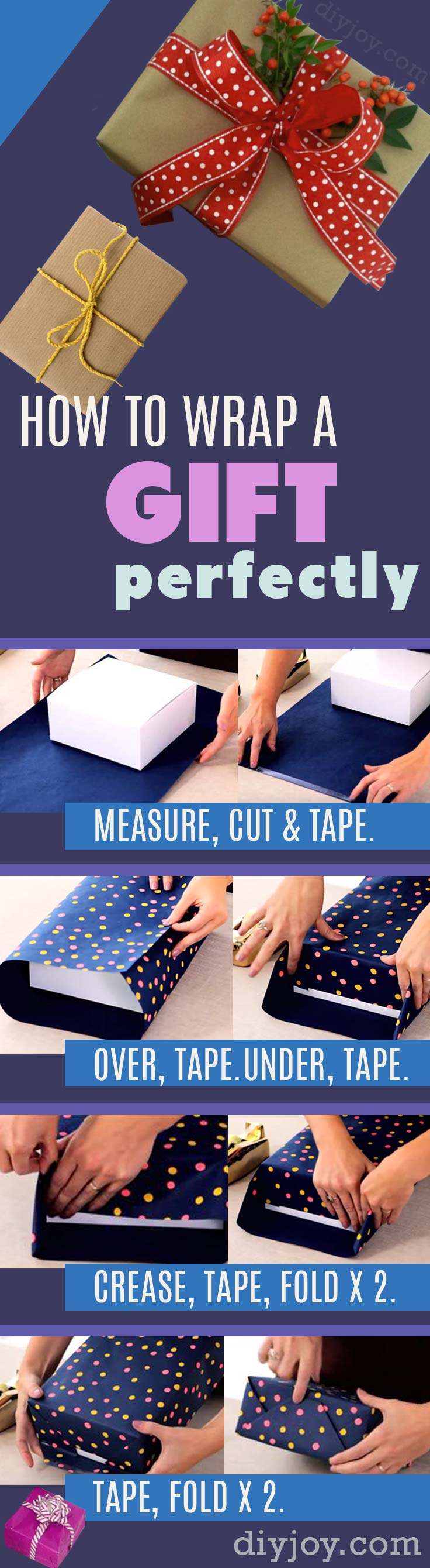 52 insanely clever gift wrapping ideas youll love how to wrap a gift diy gift wrap tutorial step by step instructions for solutioingenieria Image collections