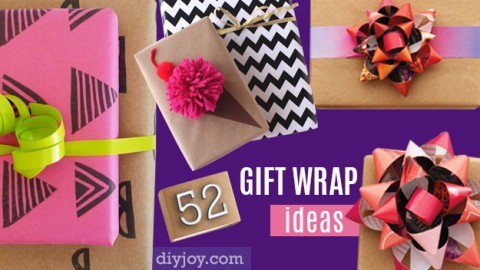 52 Insanely Clever Gift Wrapping Ideas You'll Love! | DIY Joy Projects and Crafts Ideas