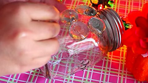 She Glues Marbles To A Mason Jar. Watch What Happens Next. Brilliant | DIY Joy Projects and Crafts Ideas