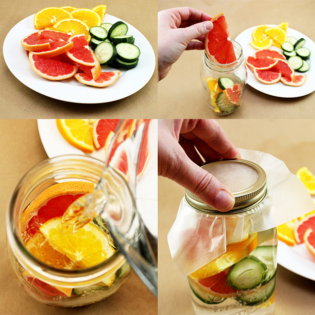 31 Detox Water Recipes for Drinks To Cleanse Skin and Body. Easy to Make Waters and Tea Promote Health, Diet and Support Weightloss | Grapefruit, Orange and Cucumber Water Recipe #detox #recipes #detoxwater #healthy