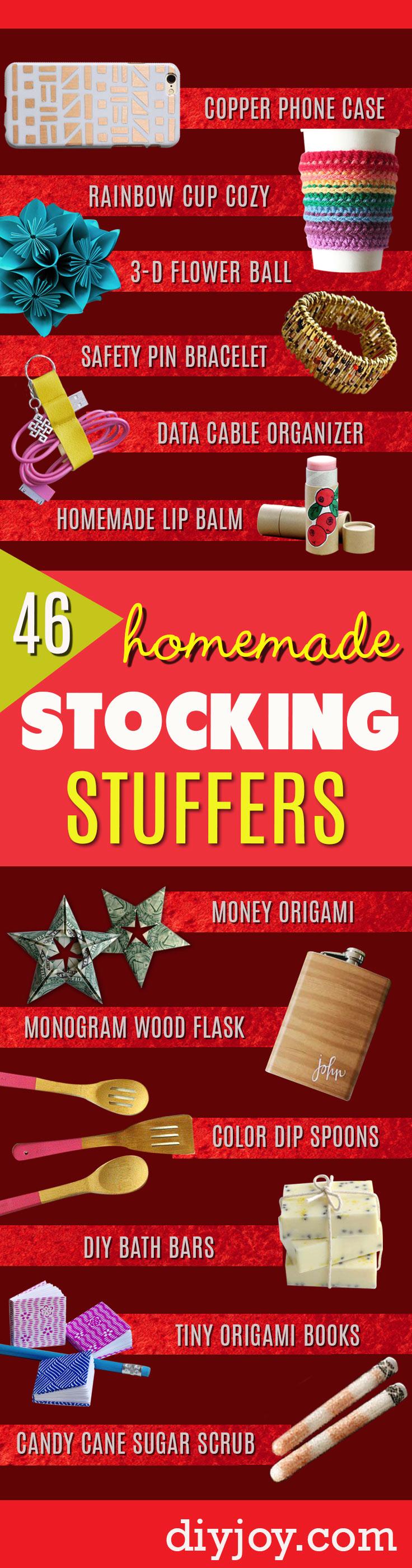 DIY Stocking Stuffers - Fun Stocking Ideas - Tiny Gifts for Friends | Cute DIY Christmas Stocking Stuffer Gifts- Small Christmas Crafts #christmasgifts #diy