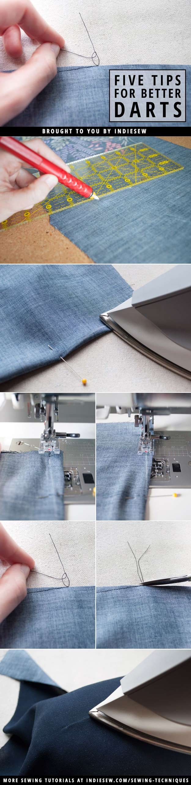 Sewing Hacks | Best Tips and Tricks for Sewing Patterns, Projects, Machines, Hand Sewn Items. Clever Ideas for Beginners and Even Experts | 5 Tips For Better Darts