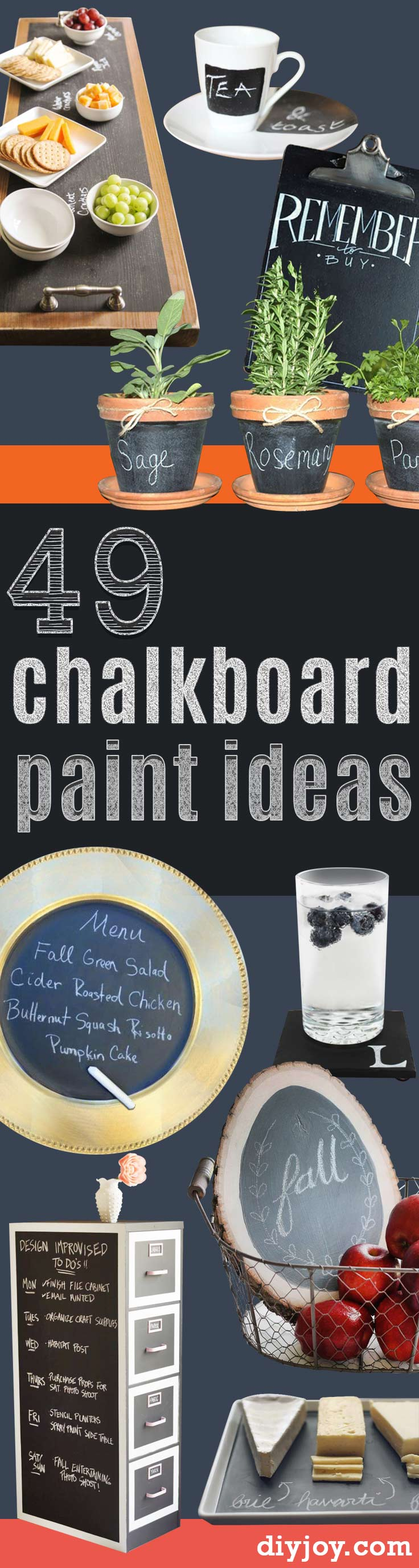 DIY Chalkboard Paint Ideas for Furniture Projects, Home Decor, Kitchen, Bedroom, Signs and Crafts for Teens.