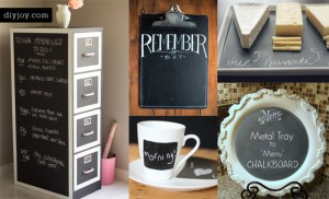 49 DIY Chalkboard Paint Ideas for Furniture and Decor