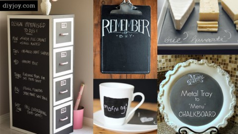 49 DIY Chalkboard Paint Ideas for Furniture and Decor | DIY Joy Projects and Crafts Ideas
