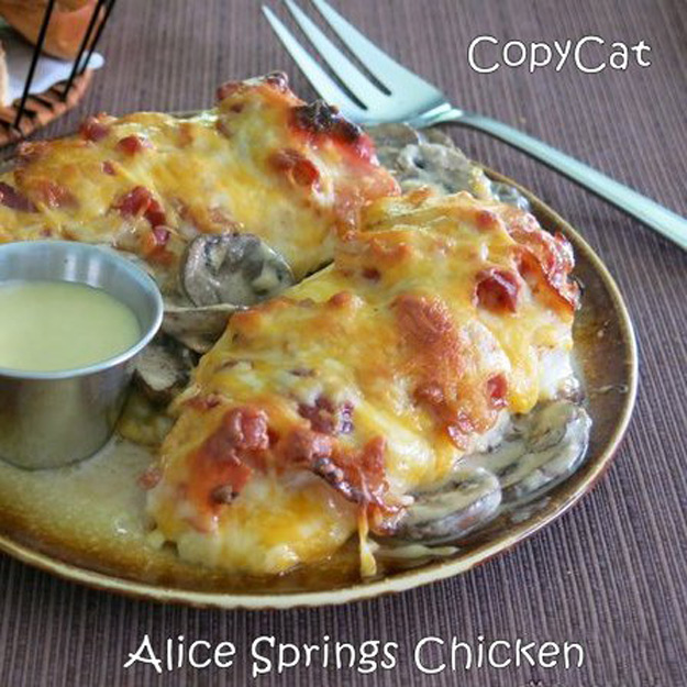 Copycat Recipes From Top Restaurants. Best Recipe Knockoffs from Chipotle, Starbucks, Olive Garden, Cinabbon, Cracker Barrel, Taco Bell, Cheesecake Factory, KFC, Mc Donalds, Red Lobster, Panda Express | Alice Springs Chicken Copycat Recipe | #recipes #copycatrecipes