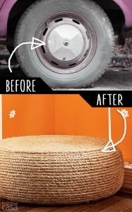 Diy furniture hacks an old tire into a rope ottoman cool ideas diy furniture hacks an old tire into a rope ottoman cool ideas for creative solutioingenieria Images