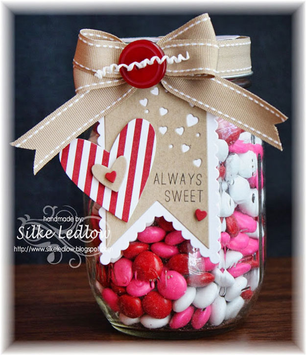Mason Jar Valentine Gifts and Crafts   DIY Ideas for Valentines Day for Cute Gift Giving and Decor   Beautiful Paper Craft and Mason Jar Gift Idea for Valentines   #valentines