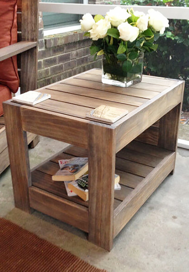 DIY Furniture Store KnockOffs - Do It Yourself Furniture Projects Inspired by Pottery Barn, Restoration Hardware, West Elm. Tutorials and Step by Step Instructions   Belvedere End Table #diyfurniture #diyhomedecor #copycats