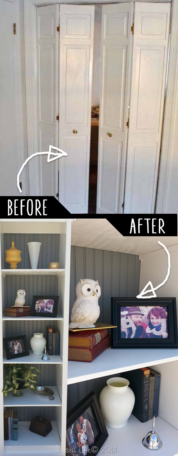 DIY Furniture Hacks   DIY Shelving Ideas Closet Door Into Shelf   Cool Ideas for Creative Do It Yourself Furniture Made From Things You Might Not Expect
