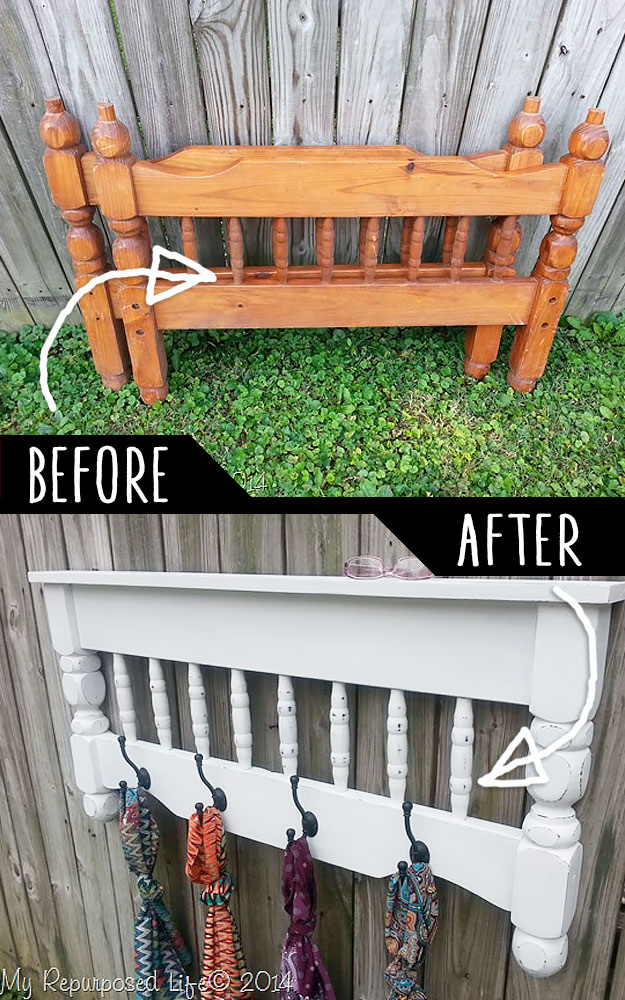 DIY Furniture Hacks | Bunk Bed to Coat Rack Awesome Hack | Cool Ideas for Creative Do It Yourself Furniture Made From Things You Might Not Expect - http://diyjoy.com/diy-furniture-hacks