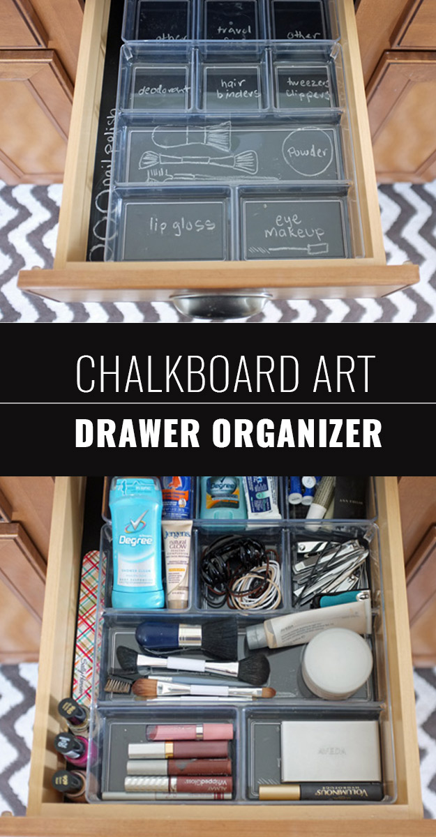DIY Chalkboard Paint Ideas for Furniture Projects, Home Decor, Kitchen, Bedroom, Signs and Crafts for Teens. | Chalkboard Art Drawer Organizer