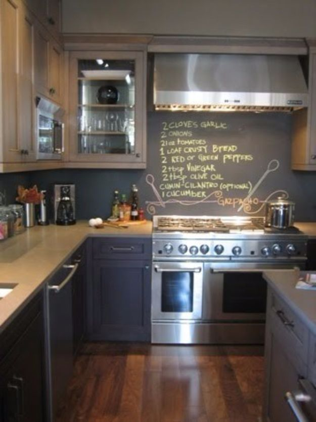 DIY Chalkboard Paint Ideas for Furniture Projects, Home Decor, Kitchen, Bedroom, Signs and Crafts for Teens. | Chalkboard Kitchen Wall Recipe | http://diyjoy.com/diy-chalkboard-paint-ideas